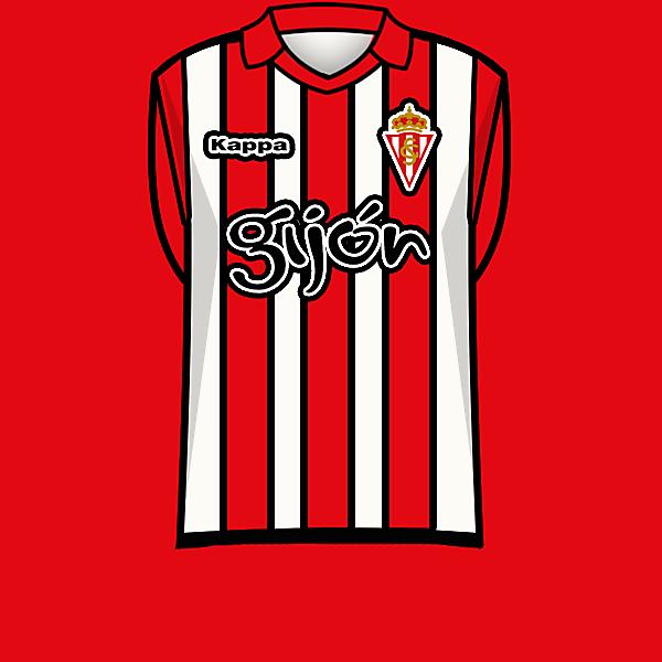 Sporting de Gijon 13-14 home kit