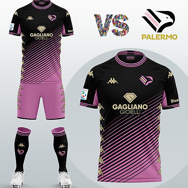 SSD Palermo Away kit with Kappa (Fantasy 2020/2021)