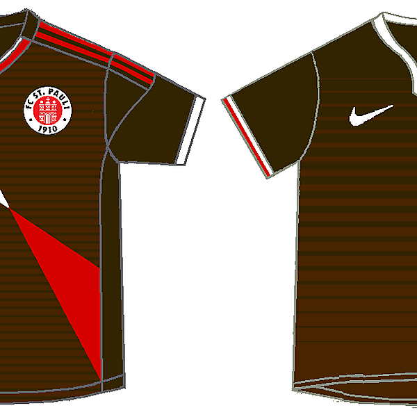 St. Pauli - adidas and nike kits