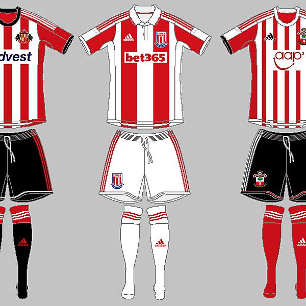 Sunderland, Stoke City & Southampton