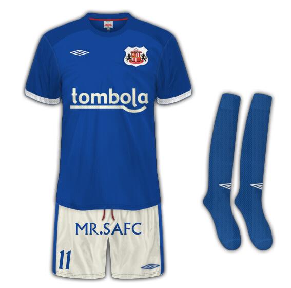 Sunderland AFC Third Kit tailored by umbro