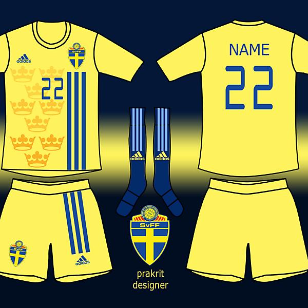 Sweden Kits Home 2017