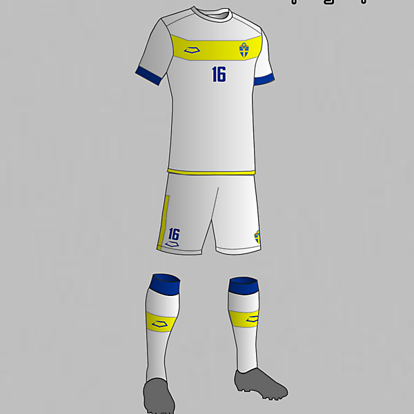 Sweeden National Football Team Third Kit 2016