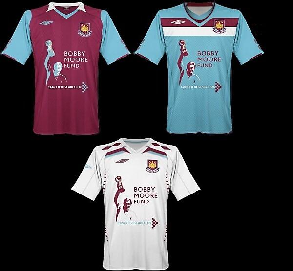 West Ham United - Bobby Moore Fund shirts