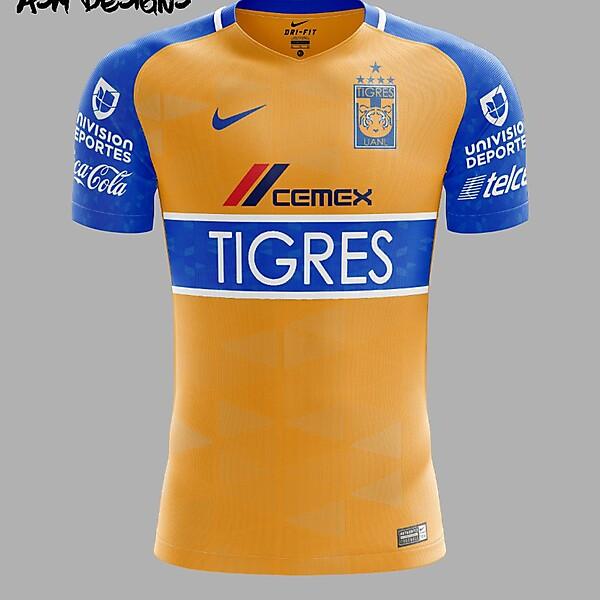 Tigres UANL Nike 2018 Home Kit