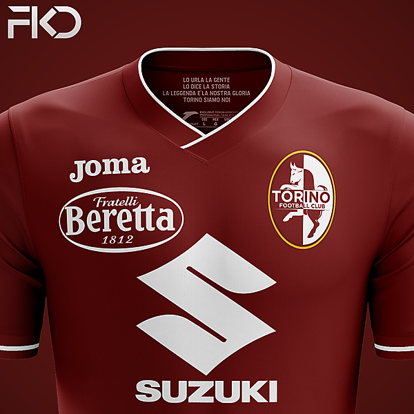 Torino FC - Joma Home with New Crest (2)