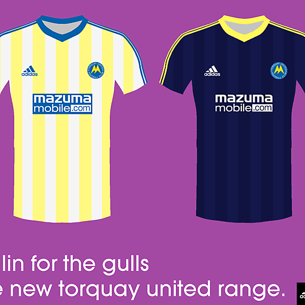Torquay United 14/15 kits by adidas