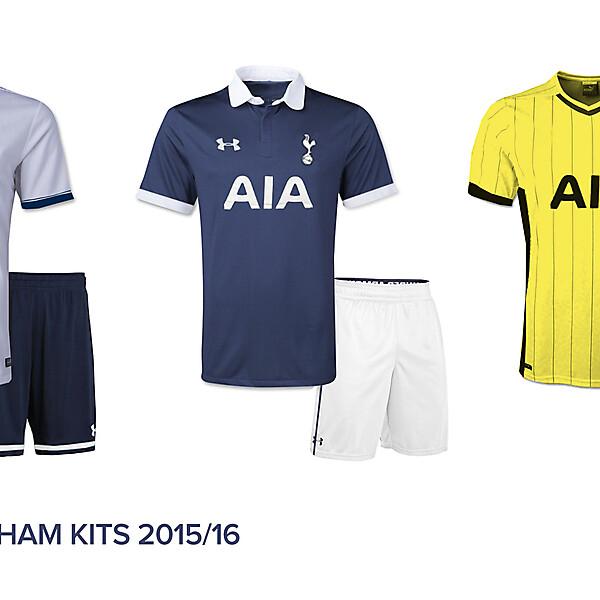 Tottenham Hotspur 2015/2016 Kits