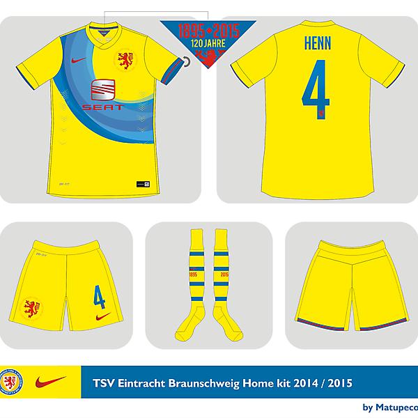 TSV Eintracht Braunschweig home kit 2014 - 2015