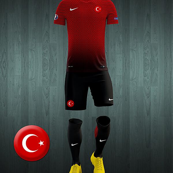 Turkey UEFA Euro 2016 home kit