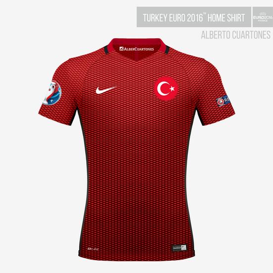Turkey UEFA EURO 2016™ Home Shirt