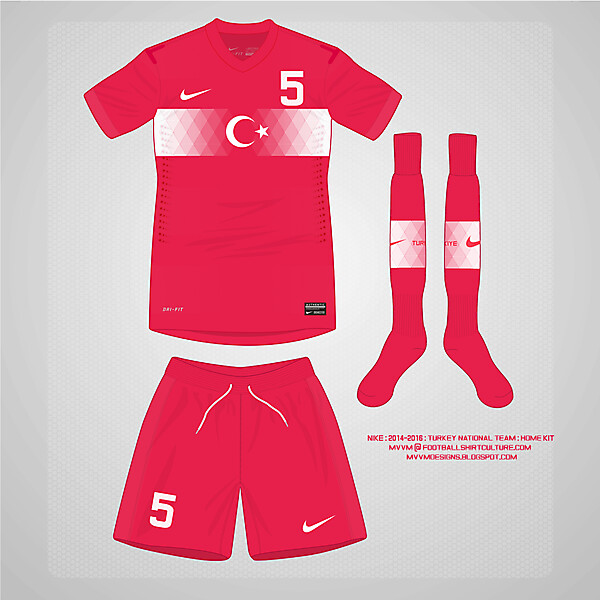 2014 Nike Turkey Home Kit