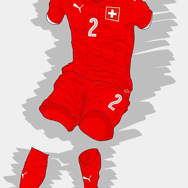 UEFA EURO 2016 - Switzerland Home Kit