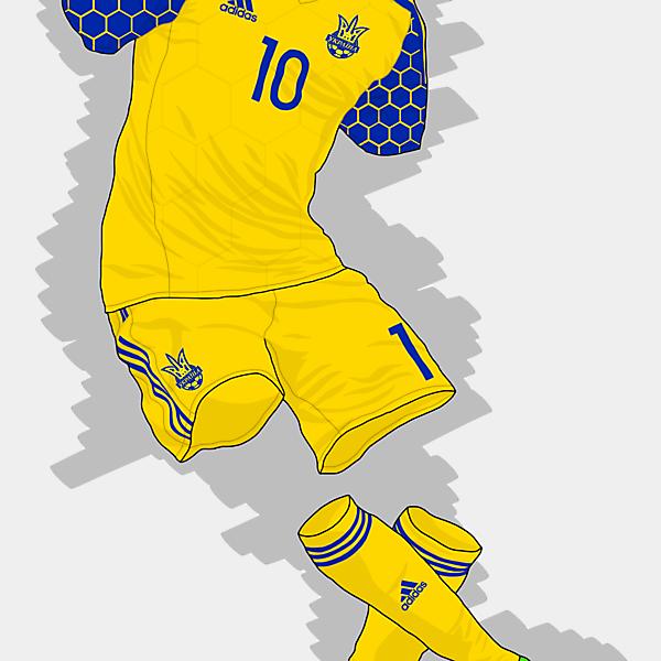 UEFA EURO 2016 - Ukraine Home Kit