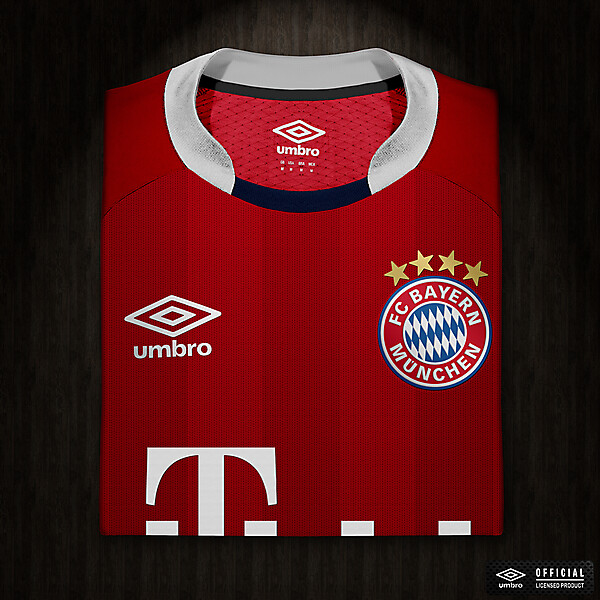 Umbro FC Bayern München Home Jersey Concept