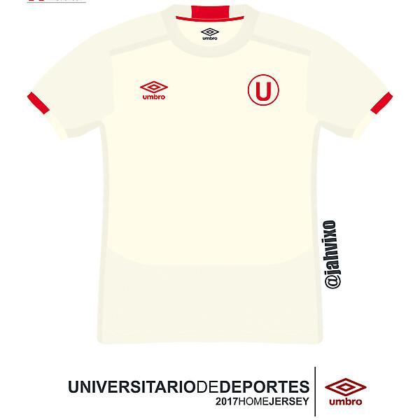 Universitario de Deportes 2017  Umbro home  football jersey