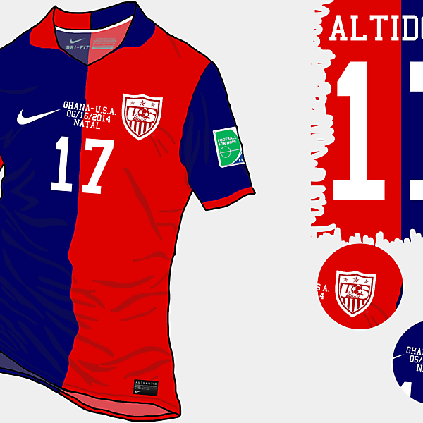 USA 2014 WC Away Shirt (Remake)