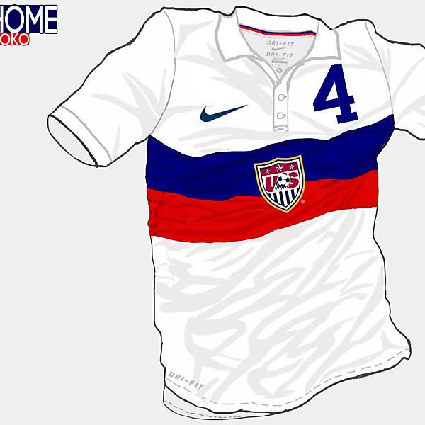 USA Home Shirt (Redo) (WC Brazil 2014)