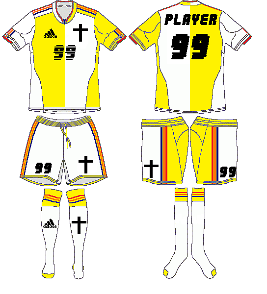 Vatican City Adidas Home Kit