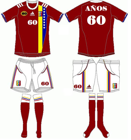 Federación Venezolana de Fútbol (Venezuelan Football Federation) 60 Years Anniversary Kit 1
