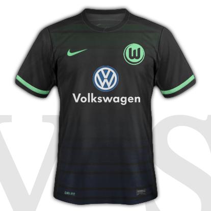 VfL Volfsburg Away kit 2016/17 season