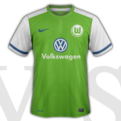 VfL Volfsburg Home kit 2016/17 season