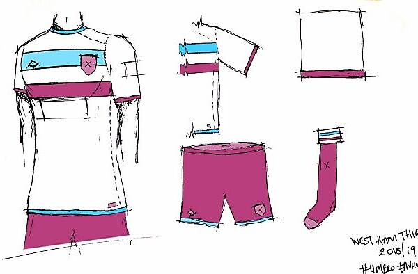 West Ham 18/19 Third kit
