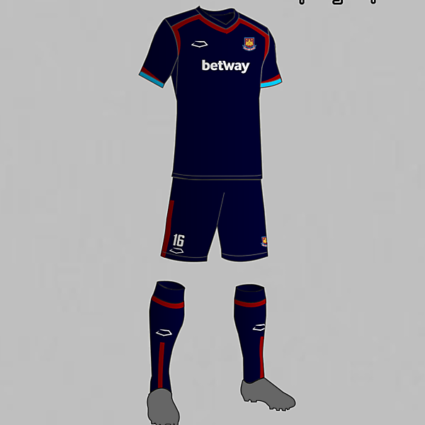 West Ham (England) Third kit 2016