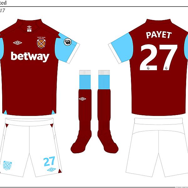 West Ham United Home Kit