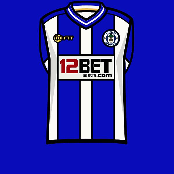 Wigan Ath. 13-14 home kit