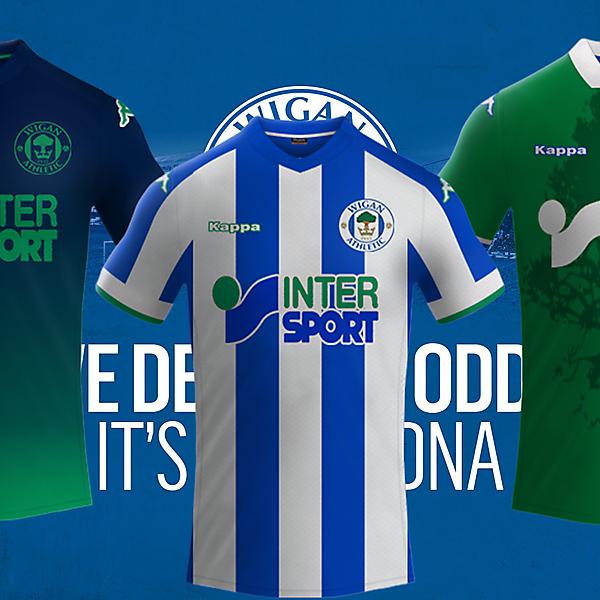 Wigan Athletic / Kappa Footballs Kits