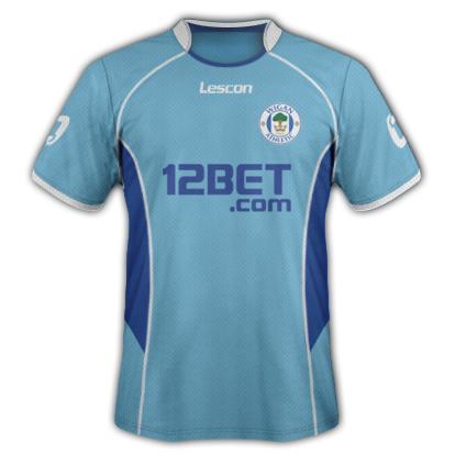 Wigan Athletic fantasy kits with Lescon