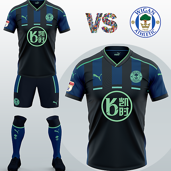Wigan Athletic FC Away kit with Puma (Concept 2020/21)