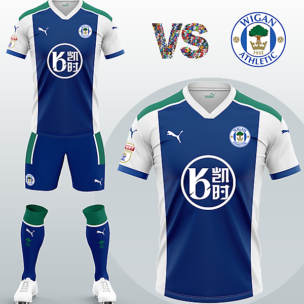 Wigan Athletic FC Home kit with Puma (Concept 2020/21)