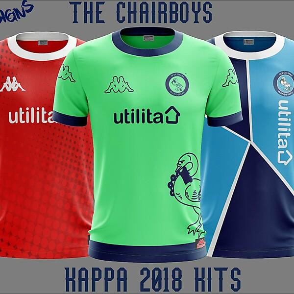 Wycombe Wanderers F.C. Kappa 2018 Kits