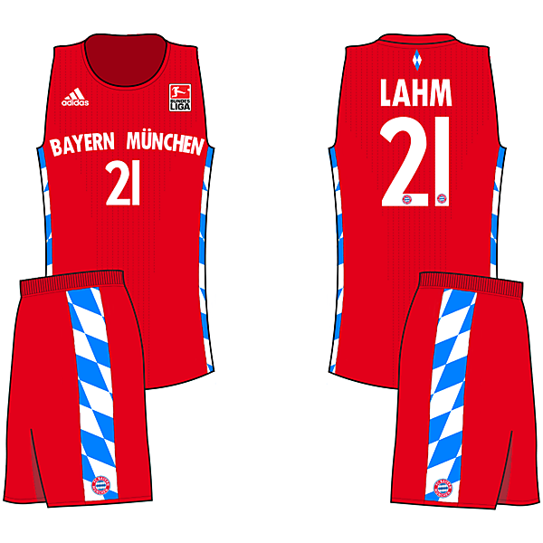 Bayern Bavarian Home (If Soccer teams had Basketball Jerseys)
