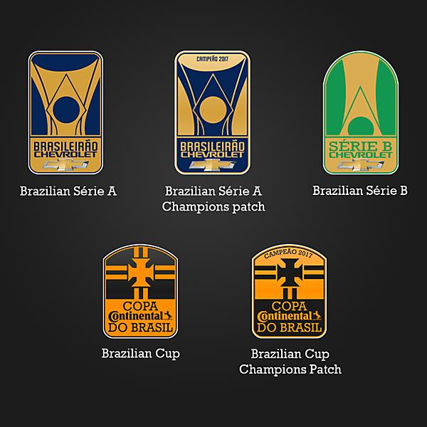 Brazilian tournaments' logos redesign