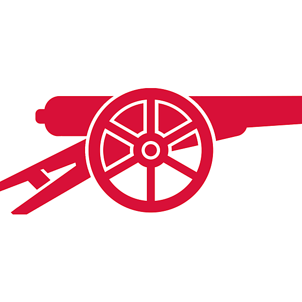 FC Arsenal alternative logo, update on their iconic canon crest.