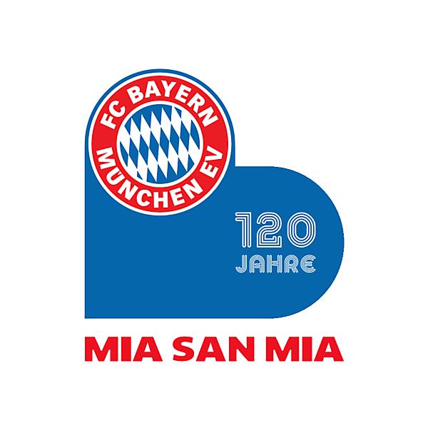 FC Bayern Munich 120 years anniversary sleeve patch
