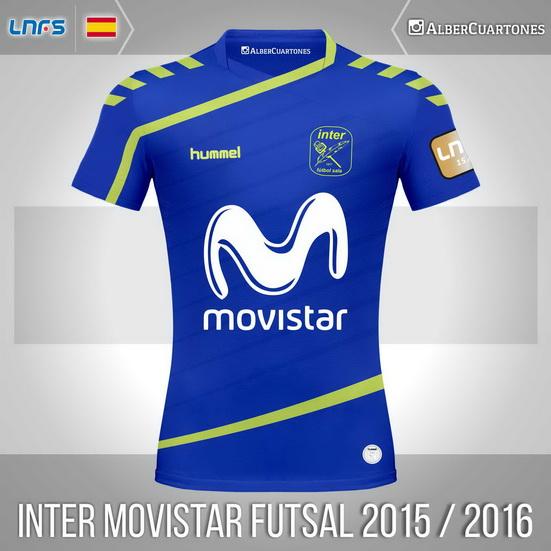 Inter Movistar Futsal 2015 / 2016 Home Shirt