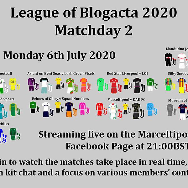 LoB2020 League of Blogacta 2020 Matchday 2