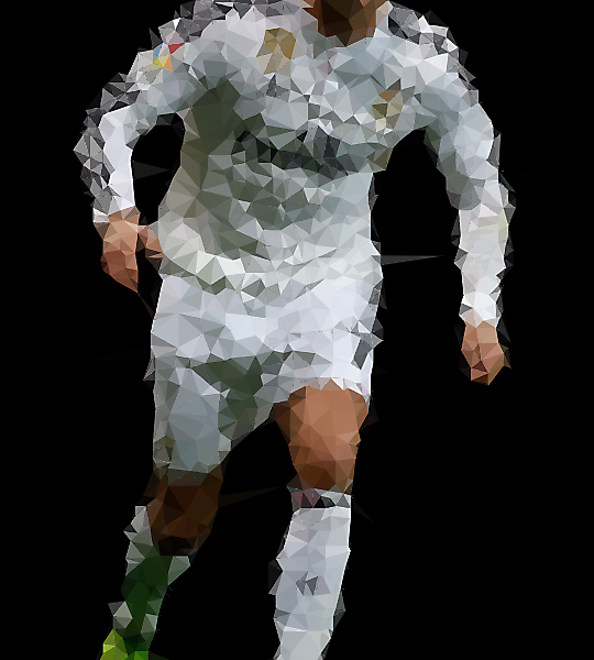 Low Poly / Cristiano Ronaldo - Real Madrid