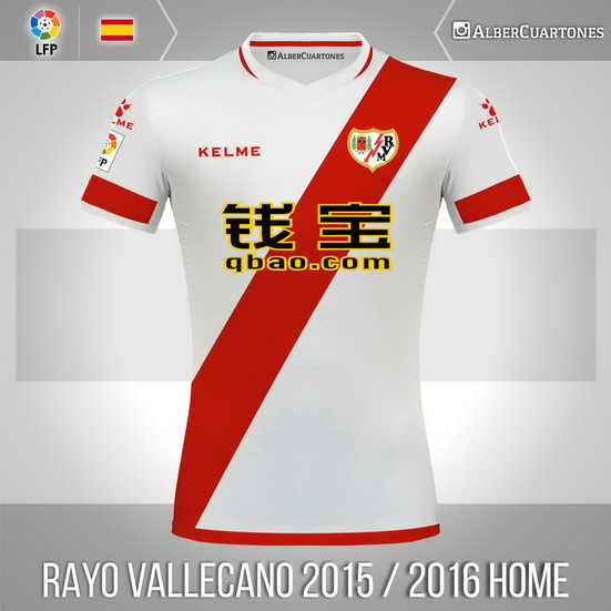 Rayo Vallecano 2015 / 2016 Home Shirt