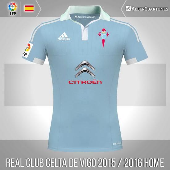 Real Club Celta de Vigo 2015 / 2016 Home Shirt