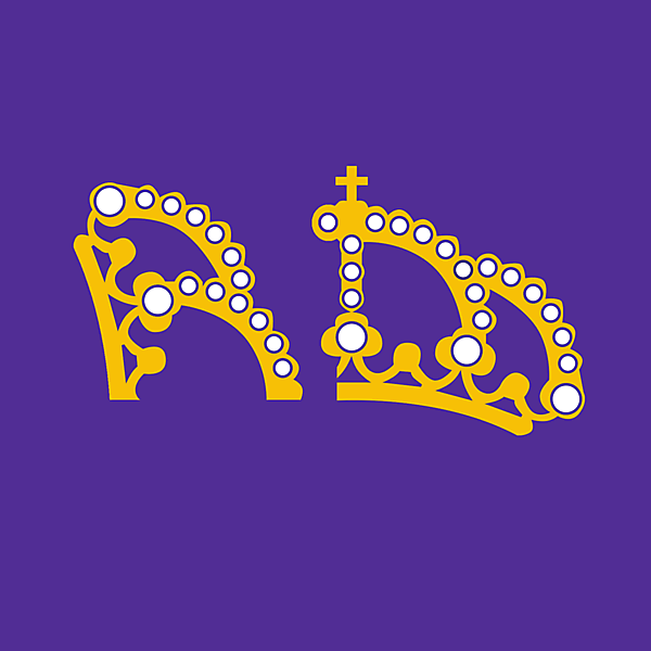 Real Madrid update on the current logo, R/M made out of the iconic crown.
