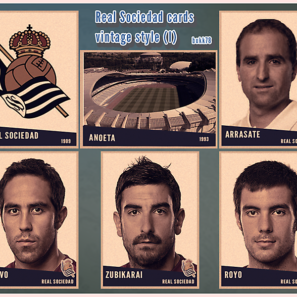 Real Sociedad cards vintage style (I)