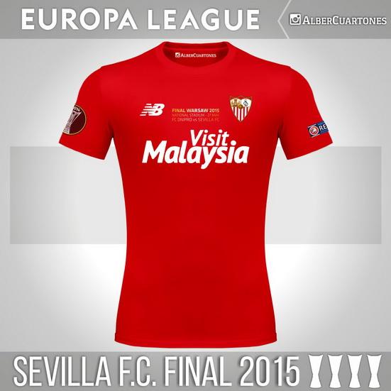 Sevilla F.C.2015 Europa League Final Shirt