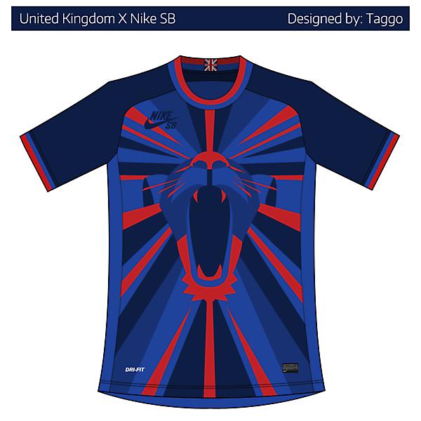 United Kingdom X Nike SB home kit