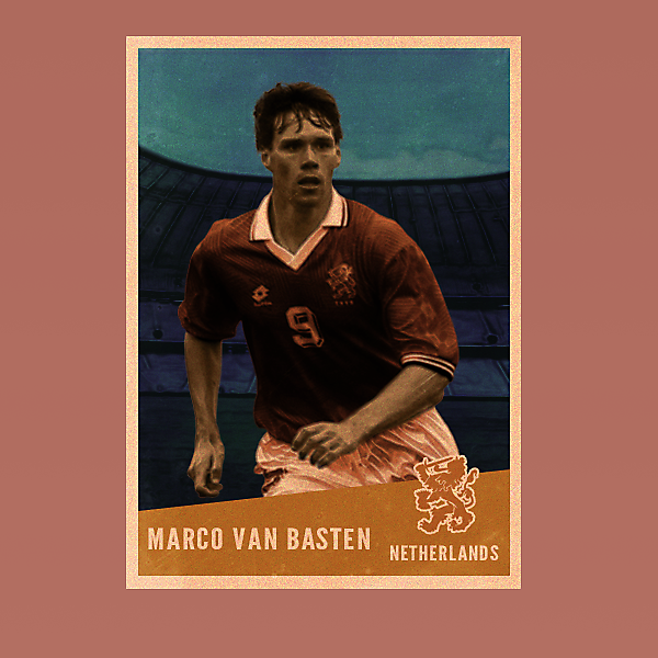 Van Basten Vintage Style card