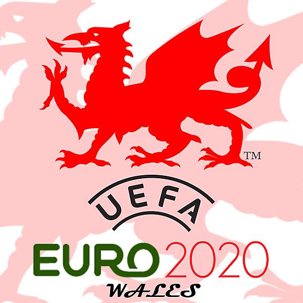 Wales 2020 Euro logo